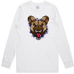 """WILD DOG"" LONG SLEEVE WHITE SHIRT (Purple)"