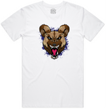 """WILD DOG"" SHORT SLEEVE WHITE SHIRT (Purple)"