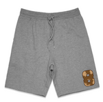"""Wild 8"" Men's Midweight Fleece Shorts (WHITE)"