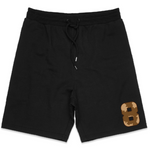 """Wild 8"" Men's Midweight Fleece Shorts (BLACK)"