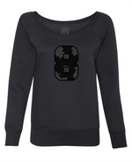 "Limited Edition ""BLACK FRIDAY"" Women's Sponge Fleece Wide Neck Sweatshirt - Wild 8"