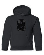 "Limited Edition ""BLACK FRIDAY"" Heavy Blend Youth Hooded Sweatshirt - Wild 8"