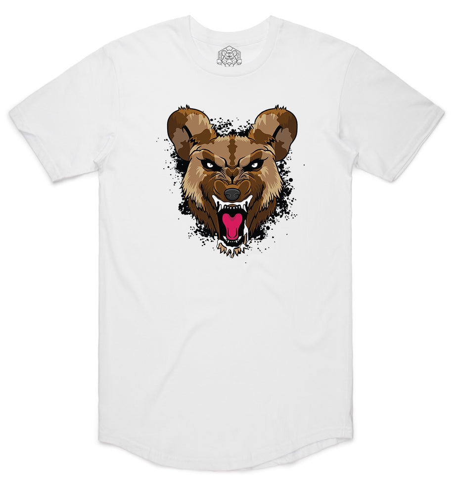 """Black WILD DOG"" White Men's State Tee"
