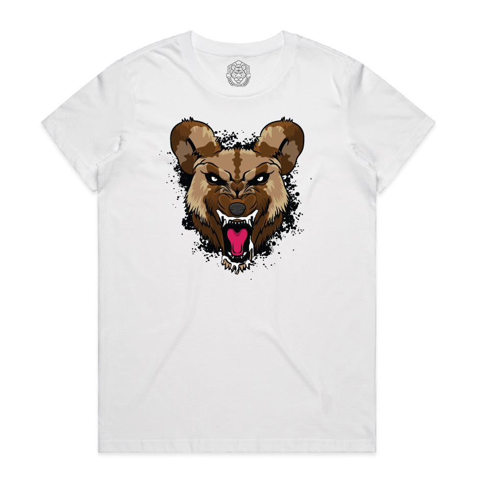 """Black Wild Dog"" White Youth Tee"