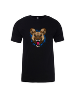 """Blue Wild Dog"" Black Short Sleeve Tee"
