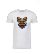 """Blue Wild Dog"" White Short Sleeve Shirt"