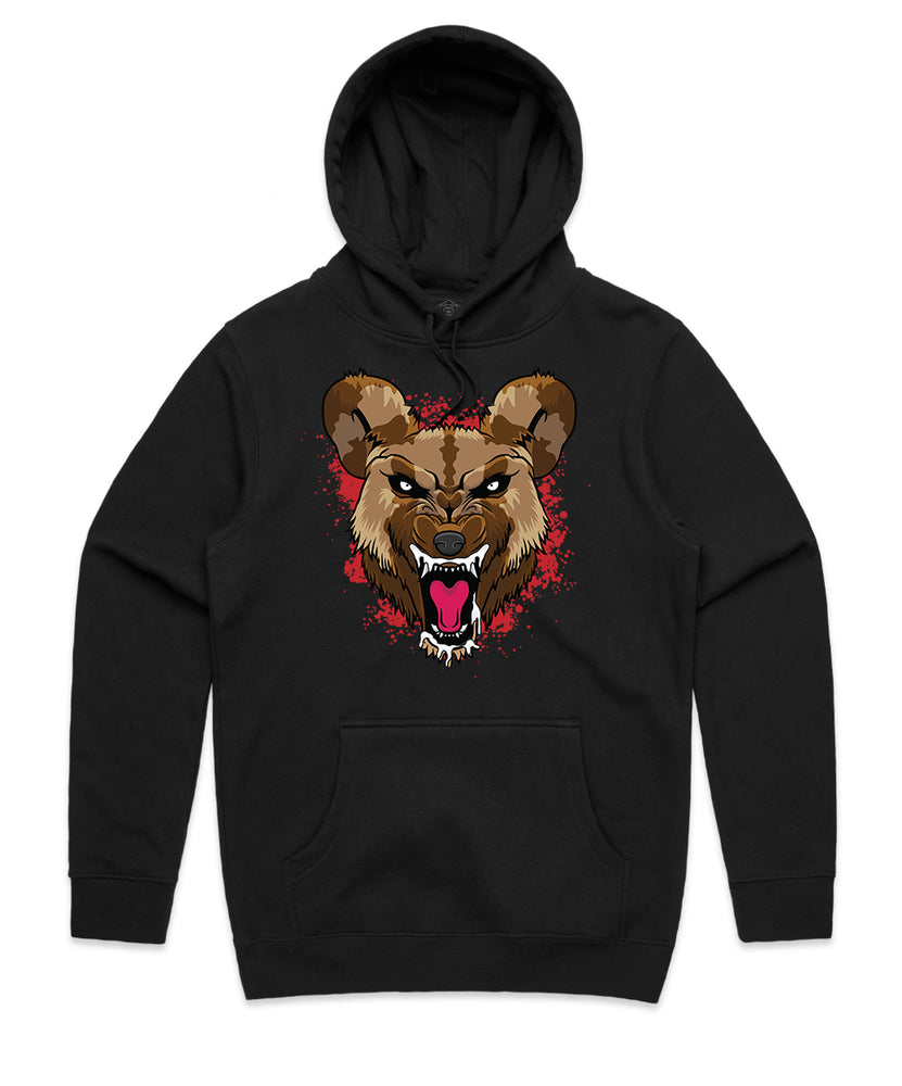 """WILD DOG"" HOODED PULLOVER SWEATSHIRT (BLACK)"
