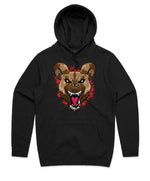 """WILD DOG"" HOODED PULLOVER SWEATSHIRT (RED)"