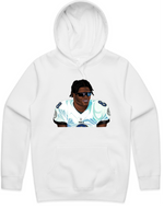 """Hater Blocker"" HOODED PULLOVER SWEATSHIRT (WHITE)"
