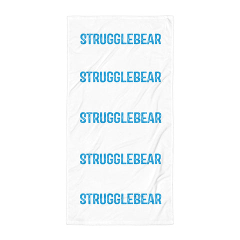 Image of StruggleBear Beach Towel-StruggleBear