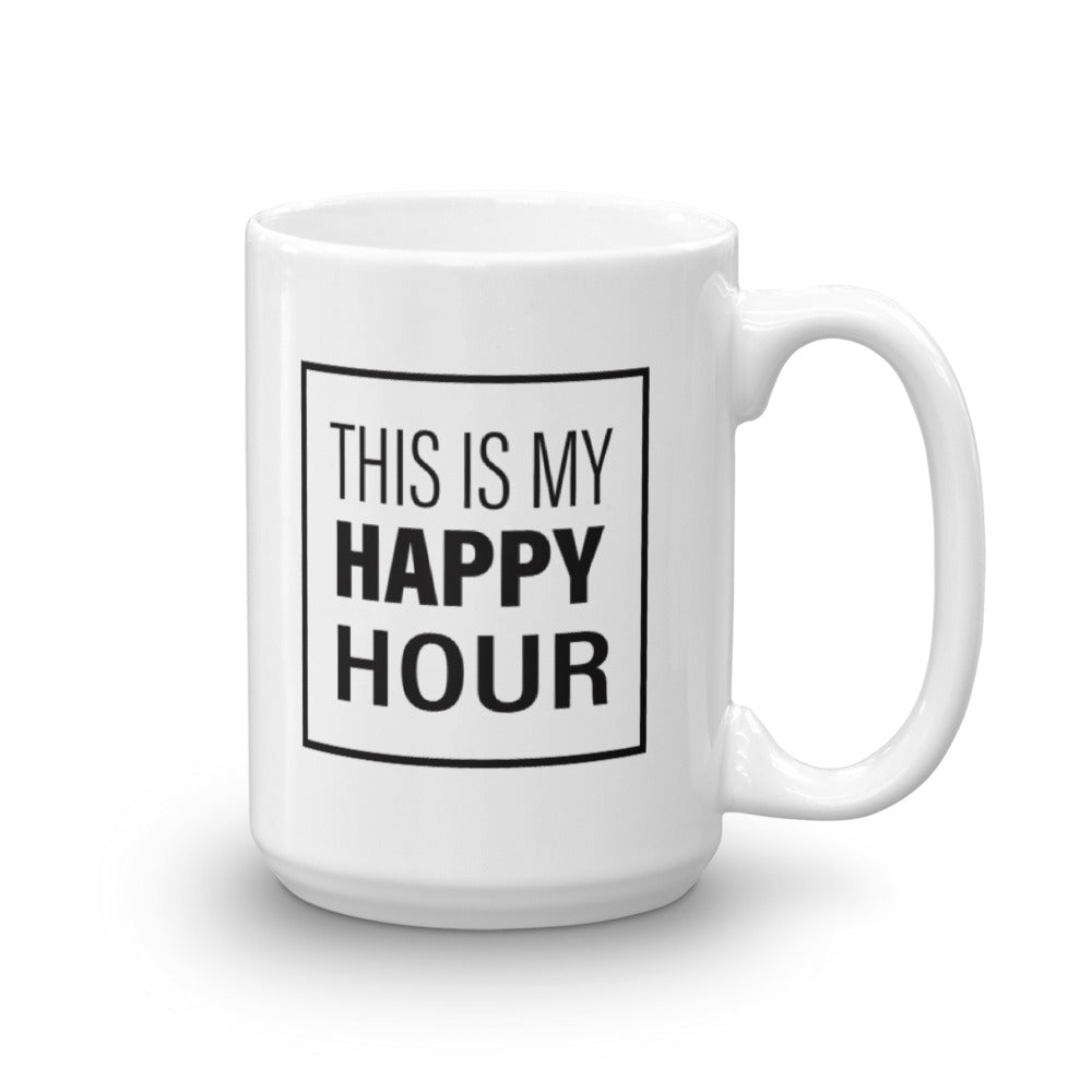 This Is My Happy Hour Mug-StruggleBear
