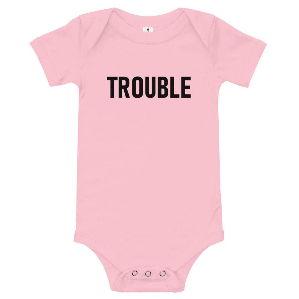 Shelley Trouble Baby Onesie-StruggleBear
