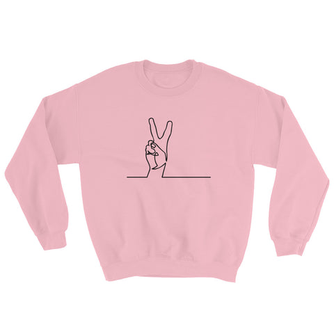 Peace Black Sweatshirt-StruggleBear
