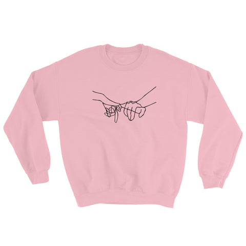 Image of Pinky Promise Black Sweatshirt-StruggleBear