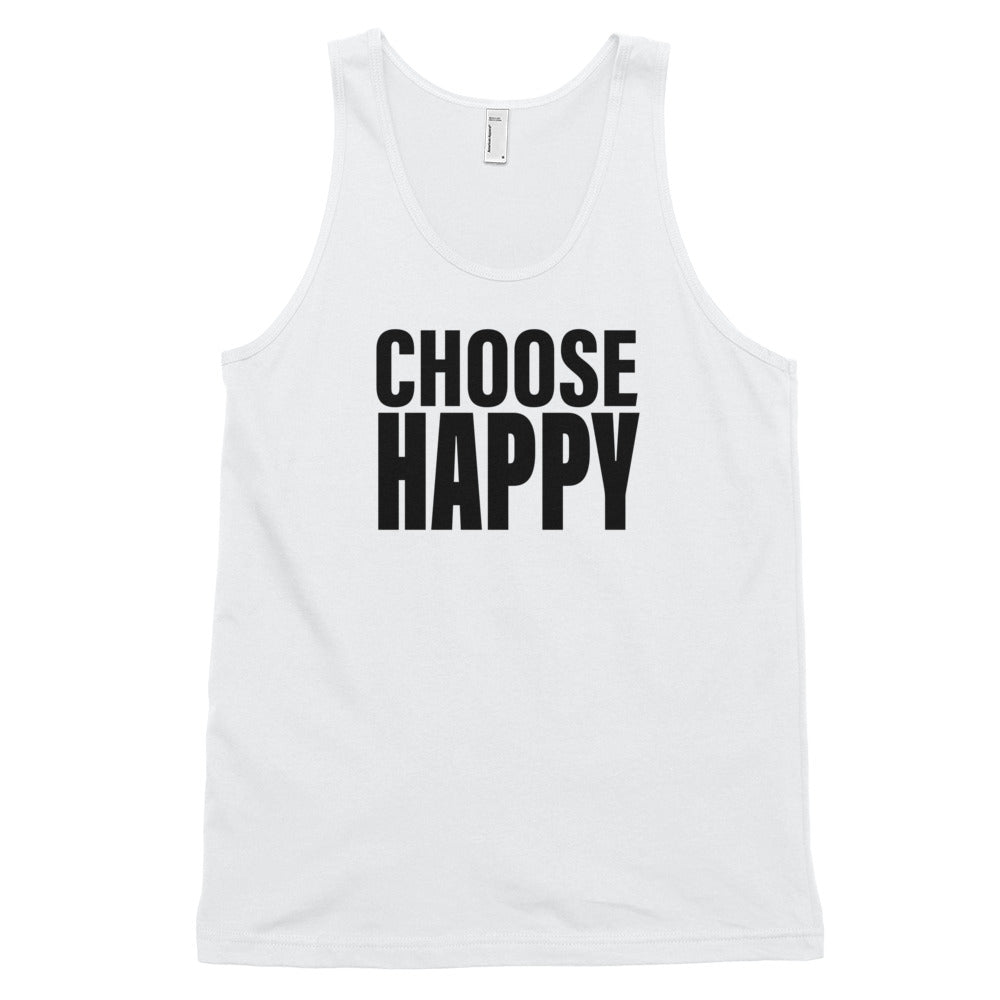 Men's Choose Happy Classic Tank Top-StruggleBear