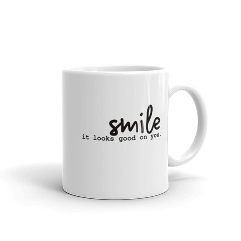 Smile It Looks Good On You Mug-StruggleBear