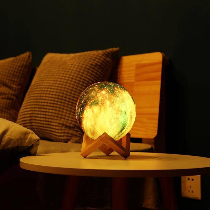 Night Lamp - Galaxy Print Moon Lamp