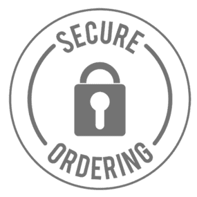Image of 100% secure and encrypted ordering