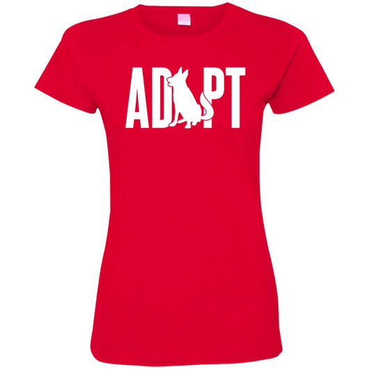 Adopt A Dog Fitted T-Shirt For Women - Ohmyglad