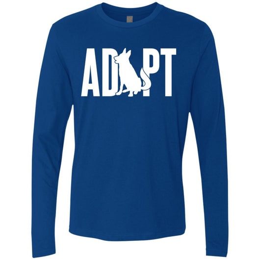 Adopt A Dog Long Sleeve Shirt For Men - Ohmyglad