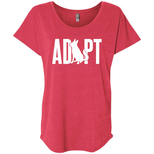 Adopt A Dog Slouchy T-Shirt For Women - Ohmyglad