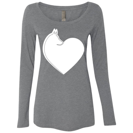 Dog Heart Long Sleeve Shirt For Women - Ohmyglad
