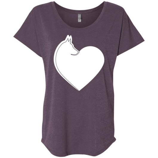 Dog Heart Slouchy T-Shirt For Women - Ohmyglad