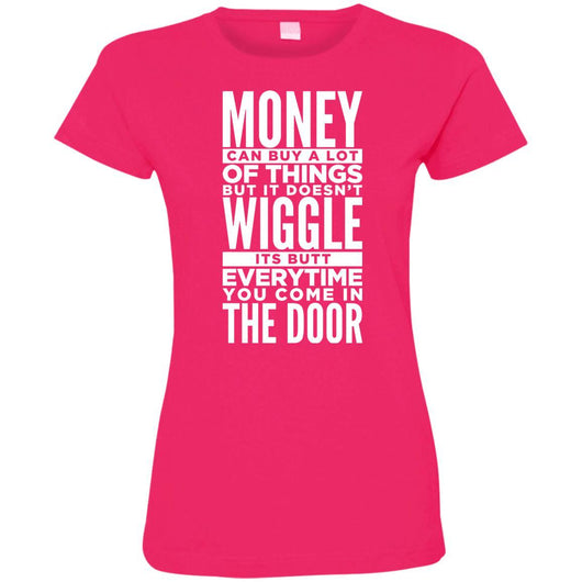 Dog Life Quote Fitted T-Shirt For Women - Ohmyglad