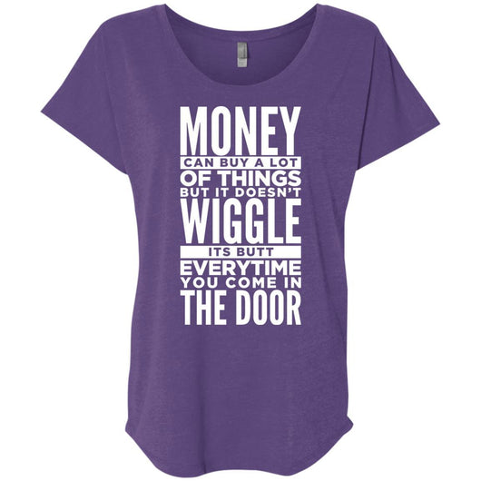 Dog Life Quote Slouchy T-Shirt For Women - Ohmyglad