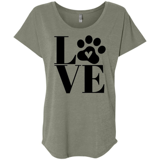 Dog Love Slouchy T-Shirt For Women - Ohmyglad
