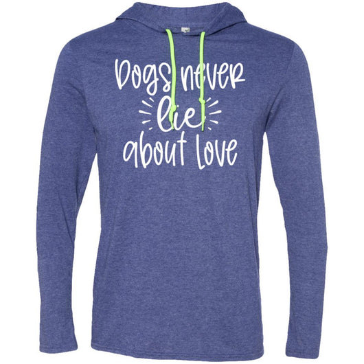 Dog Never Lie About Love Hooded Shirt For Men - Ohmyglad