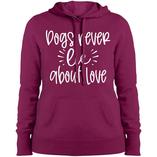 Dog Never Lie About Love Hoodie For Women - Ohmyglad