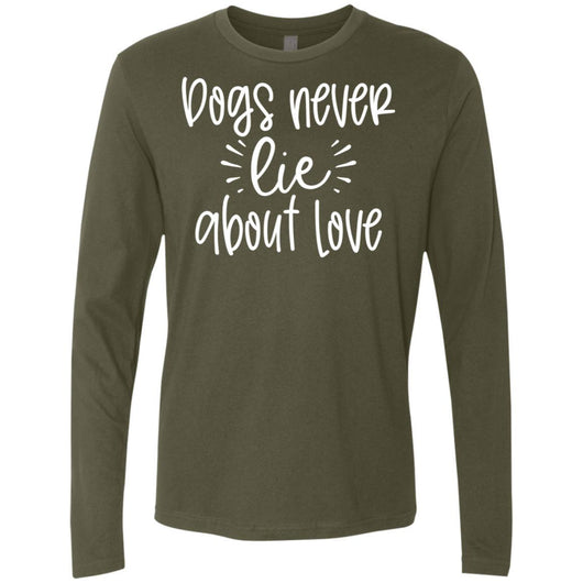 Dog Never Lie About Love Long Sleeve Shirt For Men - Ohmyglad