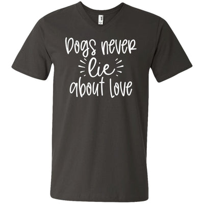 Dog Never Lie About Love V-Neck T-Shirt For Men - Ohmyglad