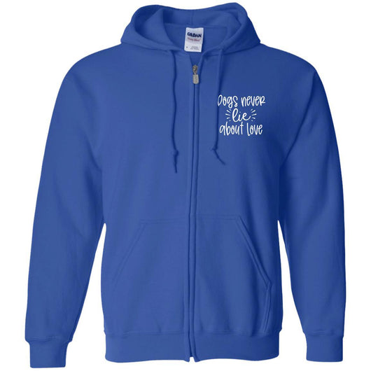 Dog Never Lie About Love Zip Hoodie For Men - Ohmyglad