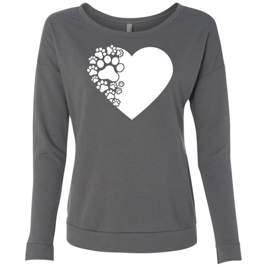Dog Paw Print Sweatshirt For Women - Ohmyglad
