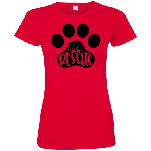 Dog Rescue Fitted T-Shirt For Women - Ohmyglad