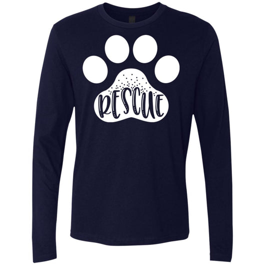Dog Rescue Long Sleeve Shirt For Men - Ohmyglad
