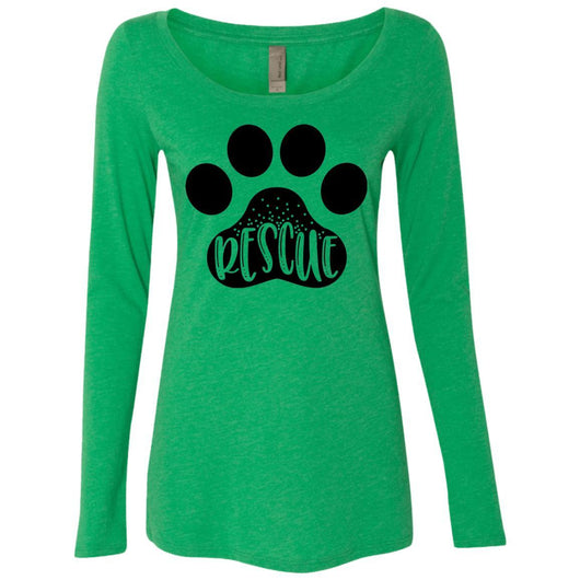 Dog Rescue Long Sleeve Shirt For Women - Ohmyglad