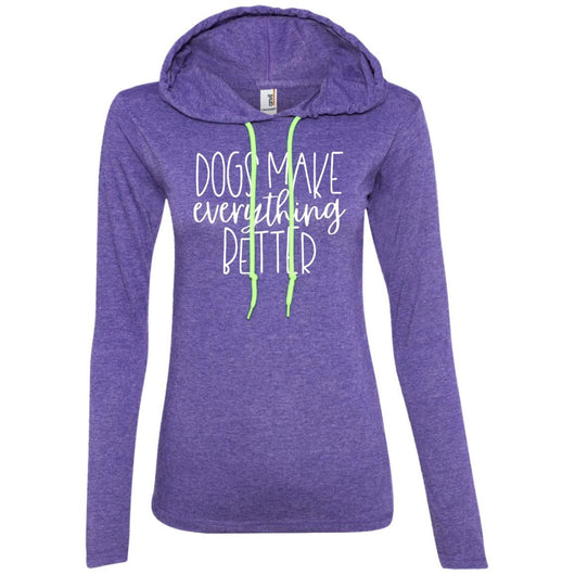 Dogs Make Everything Better Hooded Shirt For Women - Ohmyglad