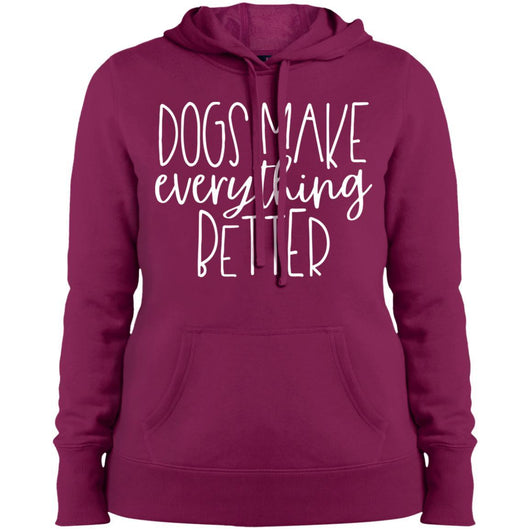 Dogs Make Everything Better Hoodie For Women - Ohmyglad