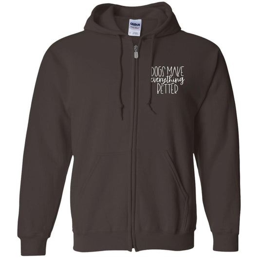 Dogs Make Everything Better Zip Hoodie For Men - Ohmyglad