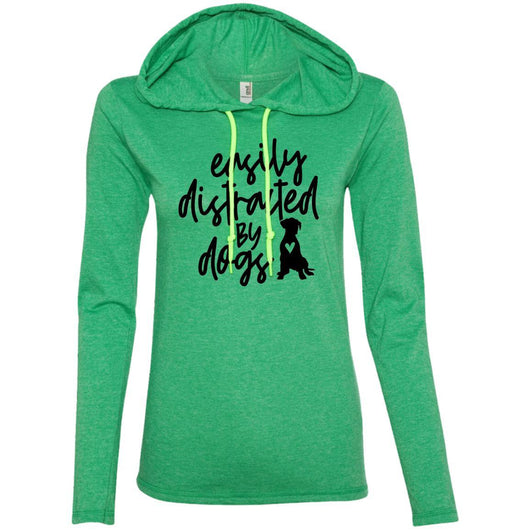 Easily Distracted By Dogs Hooded Shirt For Women - Ohmyglad