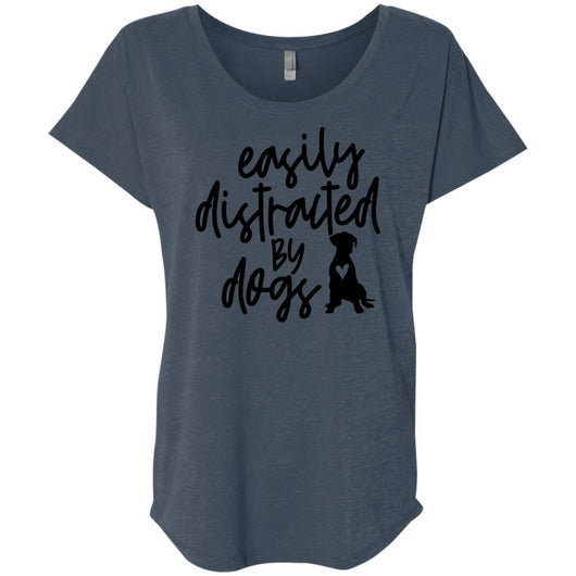 Easily Distracted By Dogs Slouchy T-Shirt For Women - Ohmyglad
