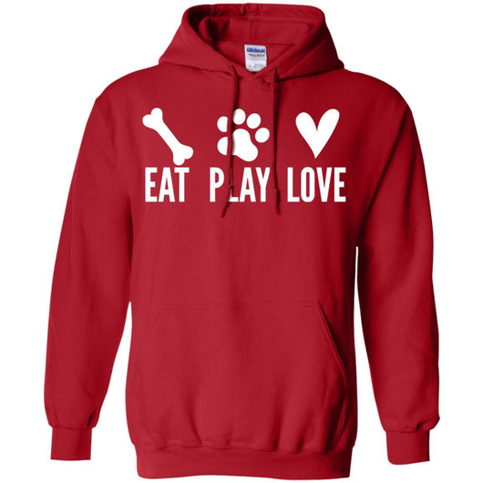 Eat, Play, Love Pullover Hoodie For Men - Ohmyglad