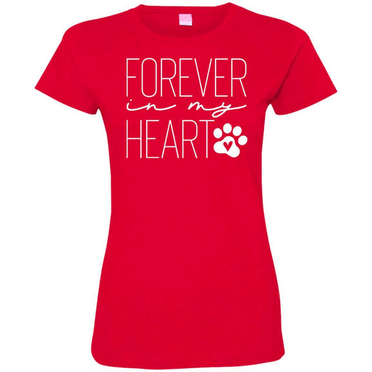 Forever In My Heart Fitted T-Shirt For Women - Ohmyglad