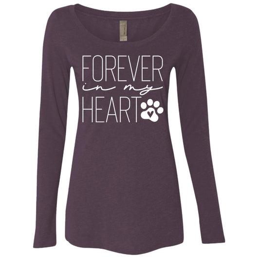 Forever In My Heart Long Sleeve Shirt For Women - Ohmyglad