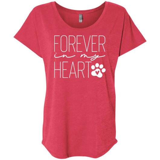 Forever In My Heart Slouchy T-Shirt For Women - Ohmyglad