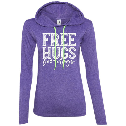 Free Hugs For Dogs Hooded Shirt For Women - Ohmyglad