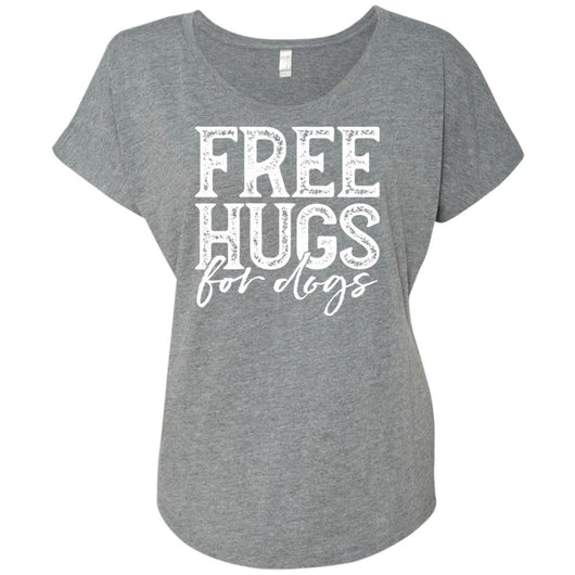 Free Hugs For Dogs Slouchy T-Shirt For Women - Ohmyglad